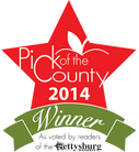 2014 pick of the county winner, gettysburg times award, taylors greenhouse, taylor's
